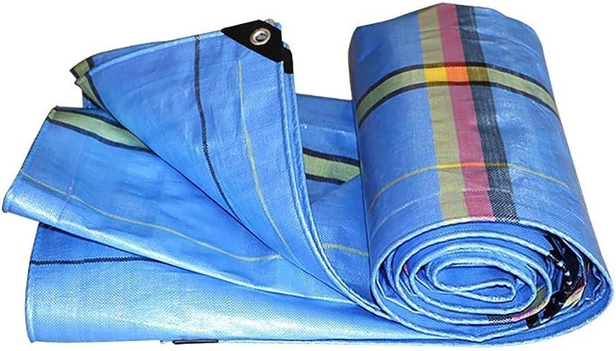 Qing MEI Toile Antipluie Bache Imperméable à l'eau Parasol épaississement Camion Huile De Pétrole Ultra Légère Prougeection Solaire Canopée Feuille De Plastique A+ (Taille   5×6m)