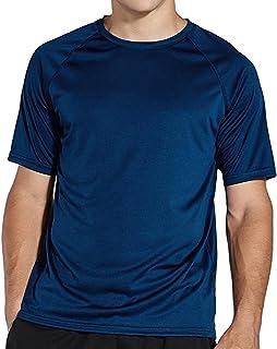 Komprexx Men's Cool-Dri UPF 50+ Sun Protection Quick Dry Running T-Shirts Athletic Short Sleeve