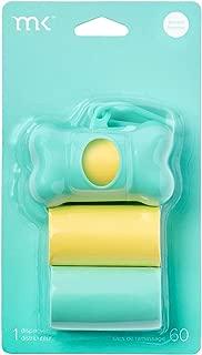 Modern Kanine Leash Dog Waste Bags Dispenser for Poop Bags, 60 Scented Dog Waste Bags, Leash Dispenser