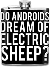 Do Androids Dream Of Electric Sheep Blade Runner Print Hip Flask Pocket Bottle Flagon 7oz Portable Stainless Steel Flagon