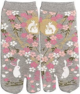 Calcetines de estilo japonés con sandalias con punta dividida Tabi Ninja Geta Calcetines de geisha para mujer, S-08