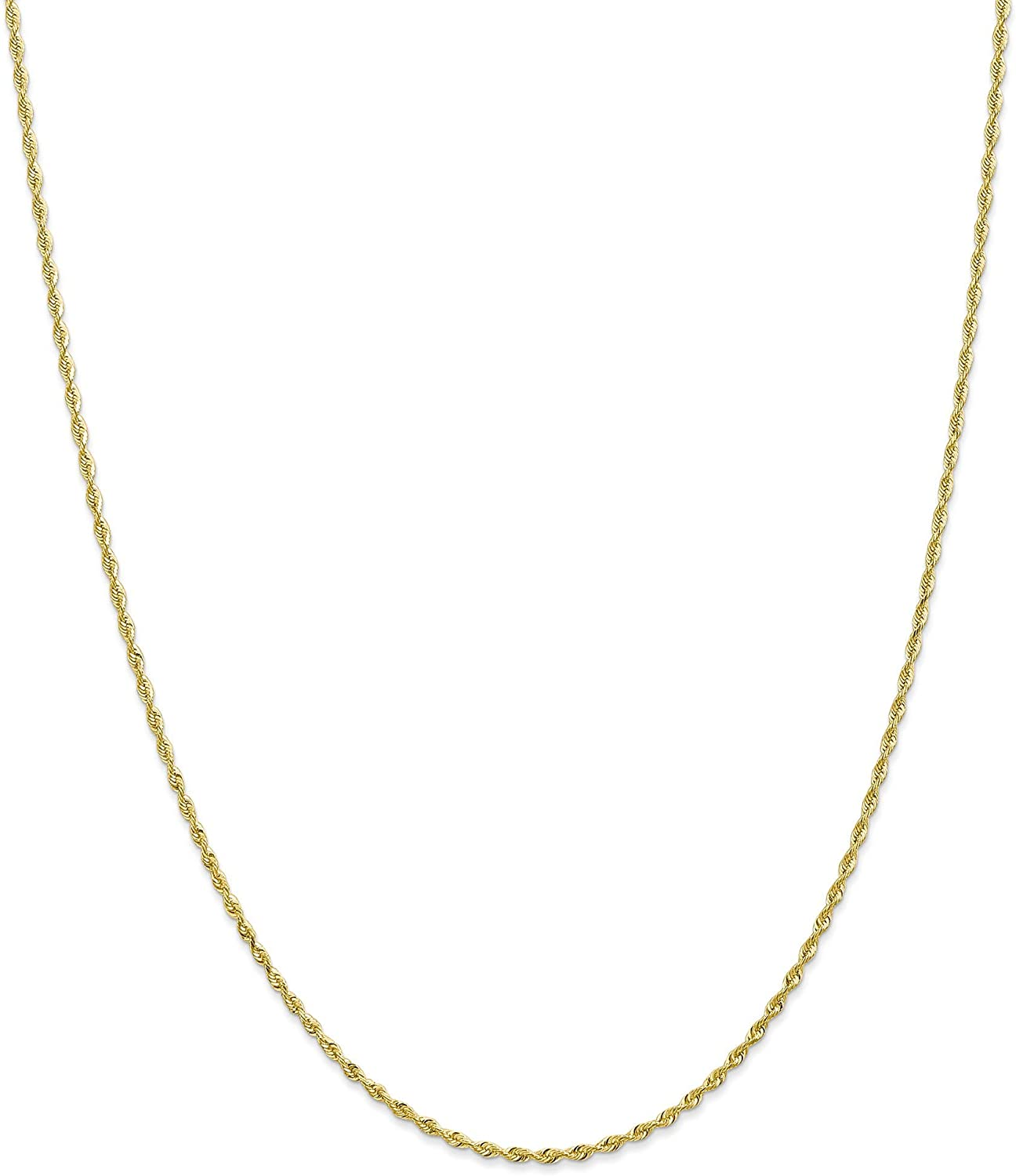 10k 1.85mm D C Quadruple Rope 24 Chain Yellow Opening Max 76% OFF large release sale Gold Length: