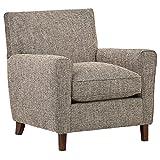 Amazon Brand – Rivet Lawson Modern Angled Chair, 33'W, Blackwood