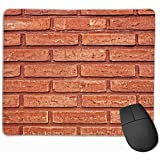 Wall Brick Surface Gaming Mauspad Schwarzes Stoff Rechteck Mousepad Mausmatte mit genähten Kanten