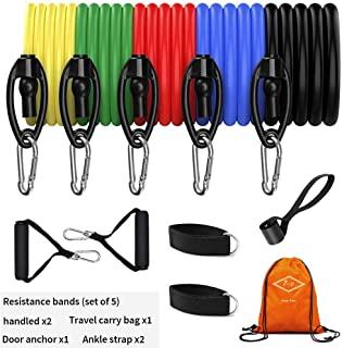 7OP Resistance Bands Set,Workout Bands,Exercise Bands Sets 11pcs