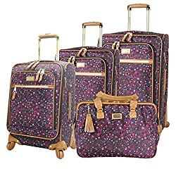 top 10 guess suitcase luggage The Steve Madden Designer Suitcase Collection is an expandable 4-part lightweight soft side spinner …