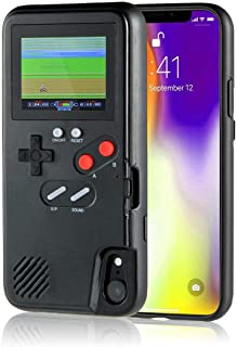 AISALL Gameboy iPhone Case Playable Gameboy Case for iPhone, 36 Classic Games Full Color Display Gameboy Phone Case Retro Gaming Phone Case Protective Cover (Black, iPhone 6/7/8 Plus)