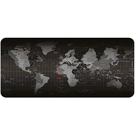 Schreibtischunterlage Anti Rutsch Gummi Tischunterlage Wasserfestes Mauspad Weltkarte Gemustert 2 Mm Dick Für Büro Und Haushalt 70 30cm Bürobedarf Schreibwaren