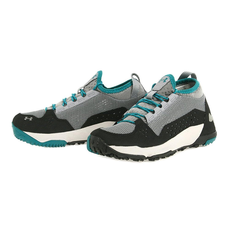 [アンダーアーマー] レディース 女性用 シューズ 靴 スニーカー 運動靴 UA Burnt River - Steel/Black/Aluminum [並行輸入品]