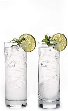 Market Fairy Premium Highball Glass Set - Elegant Glasses Set of 6- 270 ML Tall Drinking Water Glasses - Bar Glassware for Mo