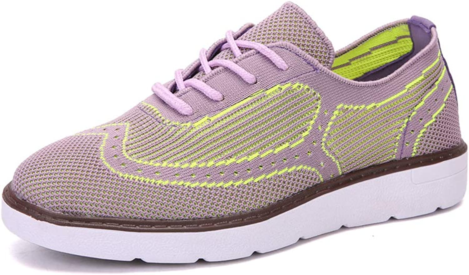 Women's Sneakers, Leisure Fashion Breathable Flying Weaving Trainer Fitness Running shoes,Purple,39