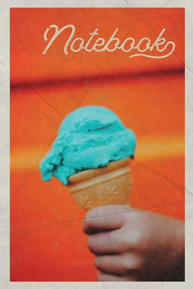 円周容量配送Notebook: Ice Cream Cone Terrific Composition Book Journal Diary for Men, Women, Teen & Kids Vintage Retro Design for Frozen Dessert Truck owner