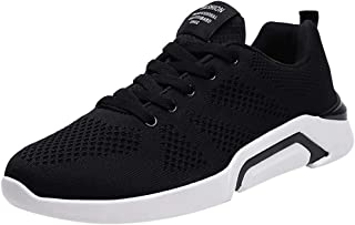 ONLT TOP Men's Running Shoes Fashion Breathable Sneakers Mesh Soft Sole Casual Athletic Lightweight Walking Shoes