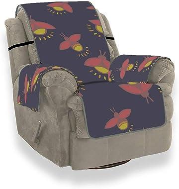 Nuit Brillante Insectes romantiques Firefly Housse de canapé inclinable de siège Canapé Couverture extérieure Chaise Longue i