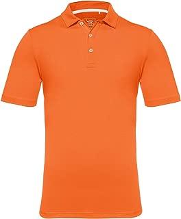 EAGEGOF Regular Fit Men's Performance Polo Shirt Tech Golf Shirt Short Sleeve Big and Tall