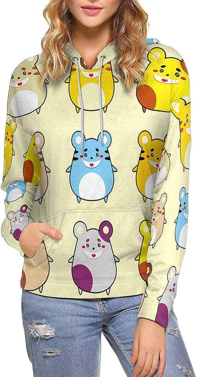 InterestPrint Cute Ranking TOP19 Merry Rat Ranking TOP18 Long Hoodie Pullover Sl Sleeve