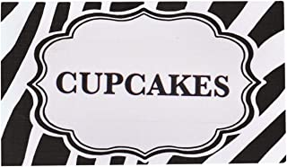 Bella Cupcake Couture Place Cards, Zebra Black and White