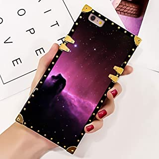 Bonoma Red Starry Wallpaper iPhone 6s Plus Square Cover Case   iPhone 6 Plus Case [5.5-Inch]