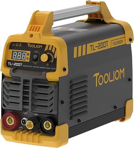 high quality TOOLIOM online 200A TIG Welder 110V/220V Dual Voltage TIG/Stick 2 in 1 IGBT Digital discount Inverter Welder Welding Machine outlet sale