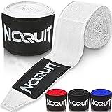 NOQUIT Premium Boxbandagen mit Daumenschlaufe - 4 m Bandagen für maximale Stabilität beim Boxen, Kickboxen & MMA in weiß