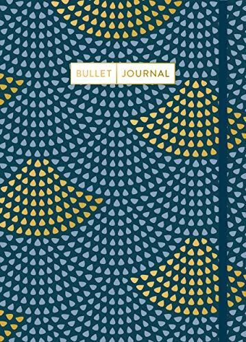 Bullet Journal 'Art Deco': Mit Punkteraster, Seiten für Index, Key und Future Log sowie Lesebändchen und praktischem Verschlussband