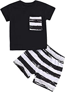 snowvirtuosau Newborn Toddler Kid Baby T-Shirt Tops Shorts Outfits 2pcs Clothing Set