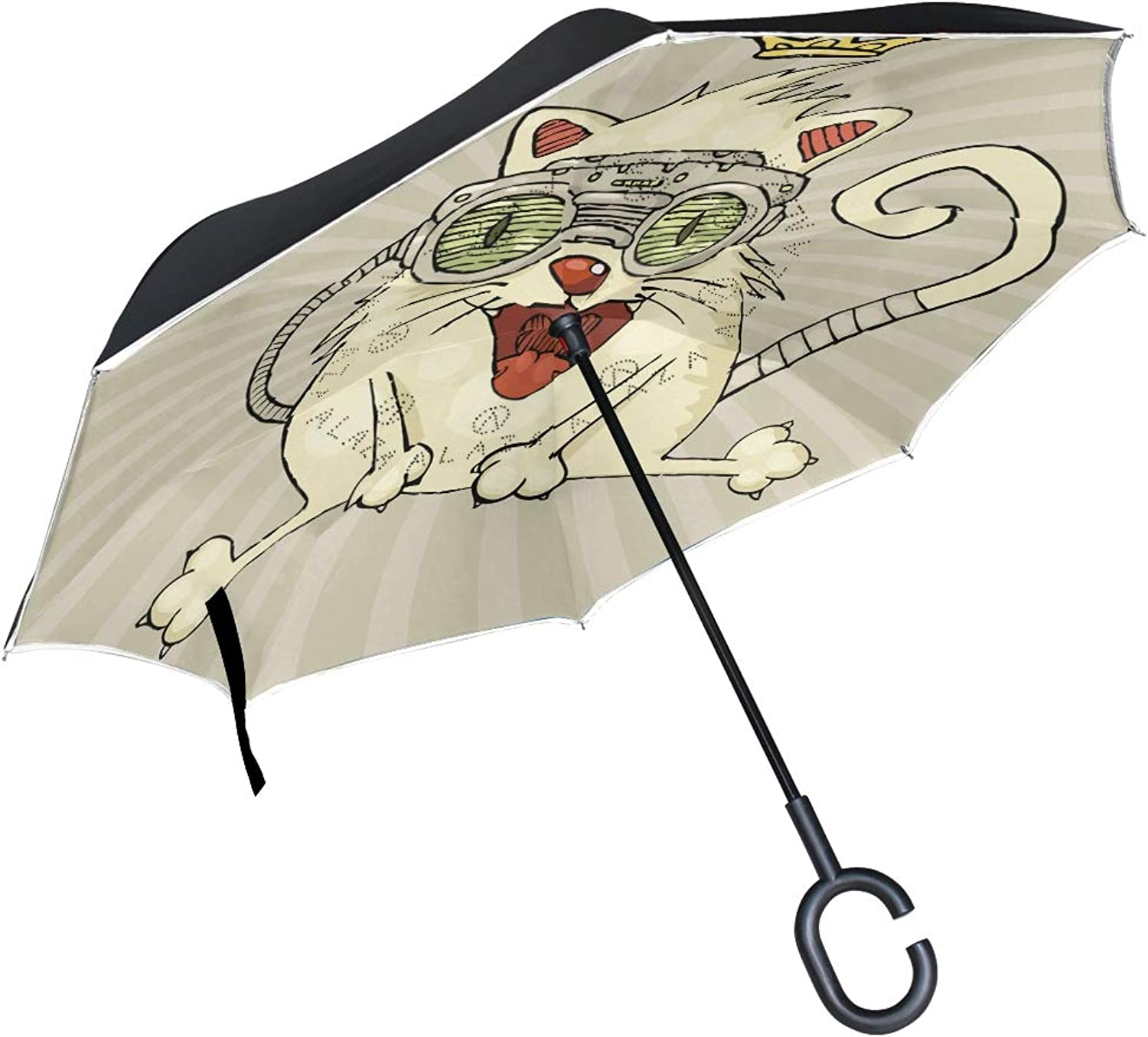 Bunny Turnip Ingreened Umbrella Compact Windproof Double Layer Car Reverse UV Predection Umbrellas for Cars Travel Beach Women Kids