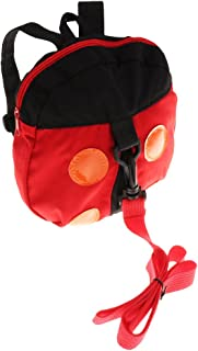 MagiDeal Kids Backpack with Safety Leash,Anti-Lost Toddler Backpack,Children Backpack - Ladybird, as described