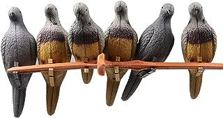 IRQ EVA Foam Archery 3D Animal Pigeon Bait Decoy, Dove for Slingshot Shooting Practice, Decoration Indoor or Courtyard 6 pcs