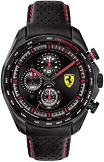 Scuderia Ferrari MEN'S BLACK DIAL BLACK LEATHER WATCH - 830647 0830647