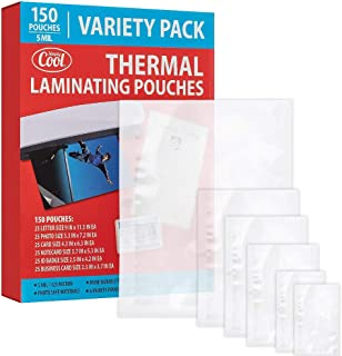 5MIL Thermal Laminating Pouches (150 Count) | Letter, Photo, Card, Notecard, ID Badge and Business Card Sizes | Dry-Erase ...