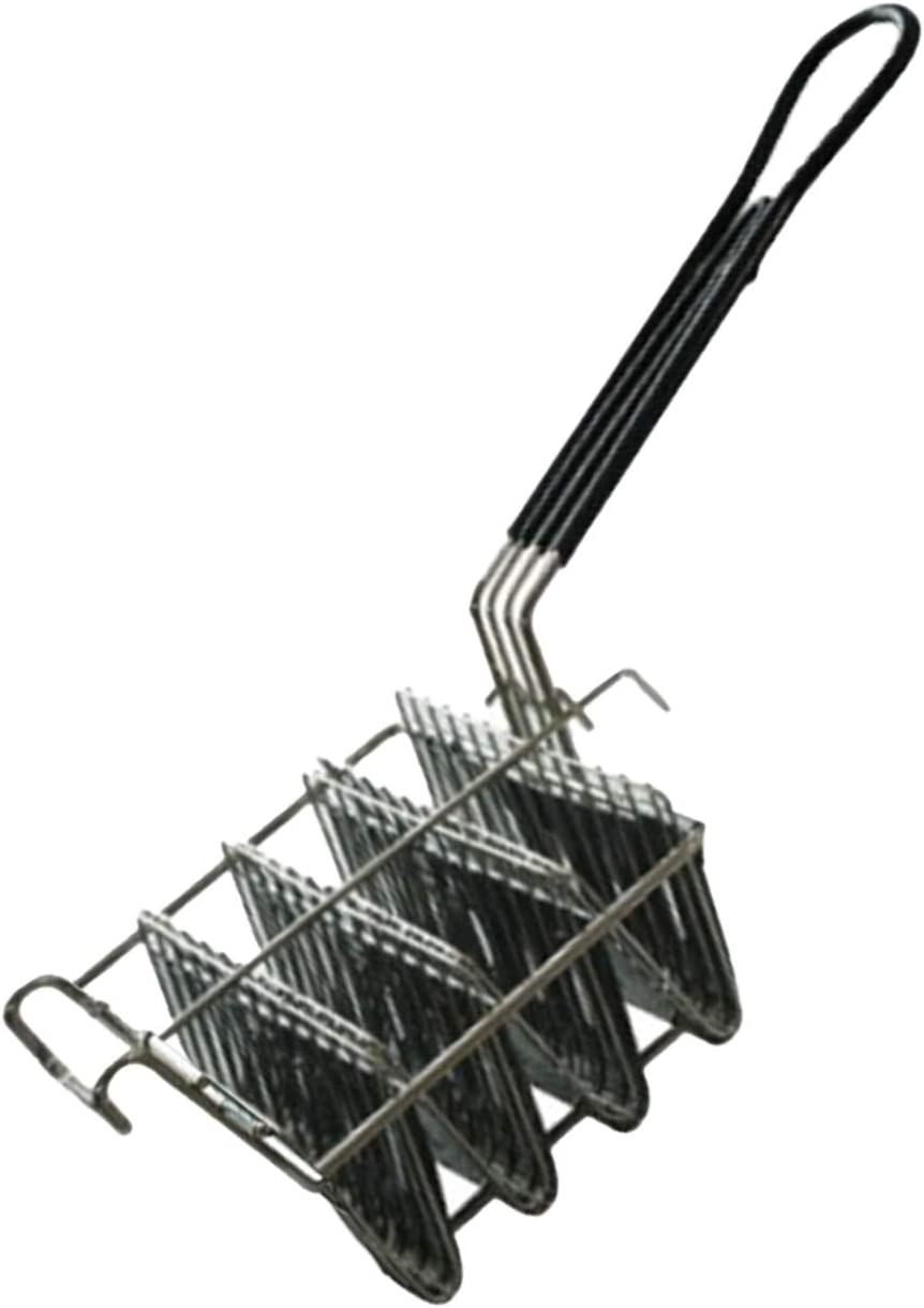 ROSEBEAR Cesta de taco con capacidad para 4 cáscaras para freidora de taco con mango de agarre