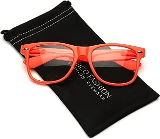 Iconic Square Non-Prescription Clear Lens Retro Fashion Nerd Glasses Men Women