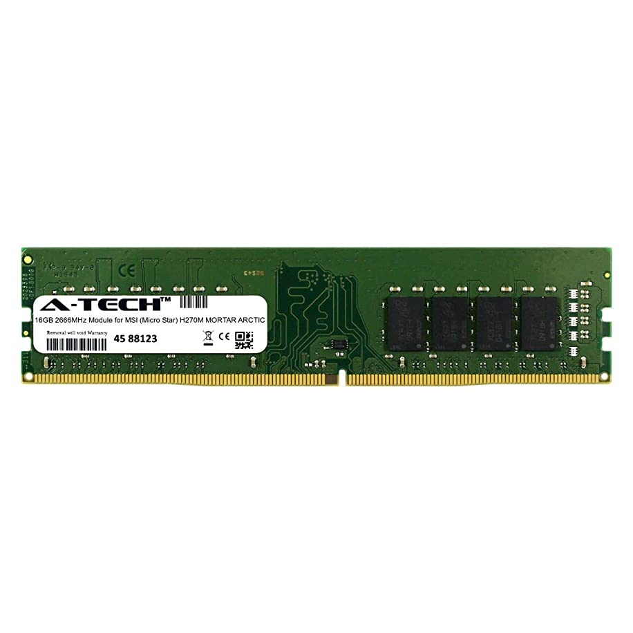 A-Tech 16GB Module for MSI (Micro Star) H270M Mortar Arctic Desktop & Workstation Motherboard Compatible DDR4 2666Mhz Memory Ram (ATMS367874A25823X1)