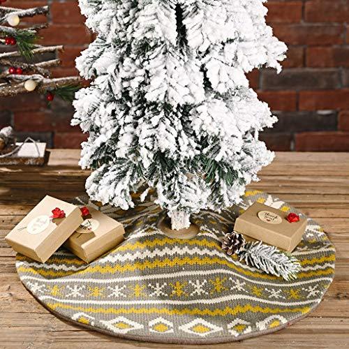 Fineday Knitted Snowflake Tree Skirt Mini Christmas Tree Skirt Tree Bottom Decoration, Home Decor 家居装饰 for Christmas (B)