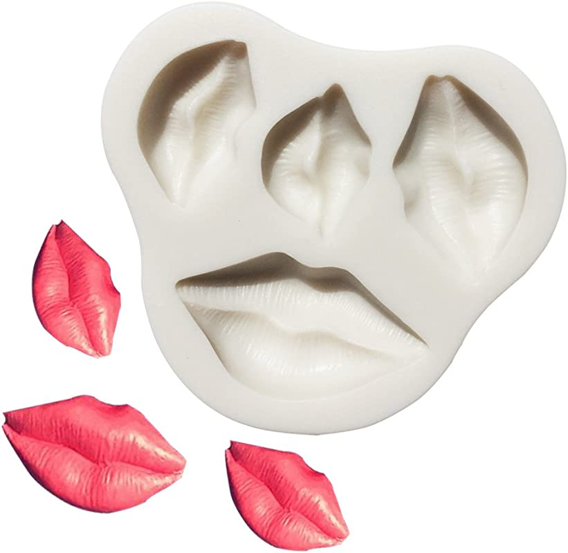 Kiss Collection Fondant Candy Silicone Mold Lips Fondant Mold For Sugarcraft Cake Decoration Cupcake Topper Polymer Clay Soap Wax Making For Baby Shower Wedding Party Supplies Favors