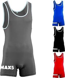 Max5 男士摔跤紧身衣制服斗士套装