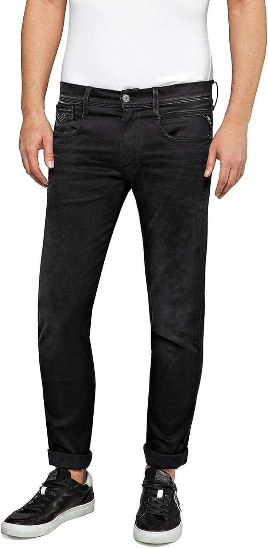 Replay Men's Anbass Jeans 送料無料 Slim Hyperflex Clouds 引き出物 Fit