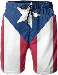 Puerto Rican Flag Men Swim Trunks Summer Surf Board Shorts Beach Pant Sportswear
