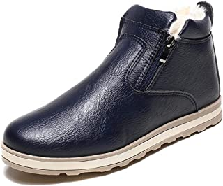 KINDOYO Men's Winter Ankle Boots - Fashion Plus Cotton Fur Lined Warm Boots