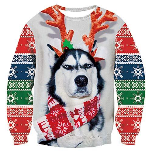 Un pull de Noël avec un chien