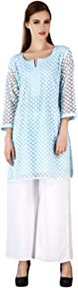 MEVE Readymade Blue Kurta and Palazzo Set for Women (L)