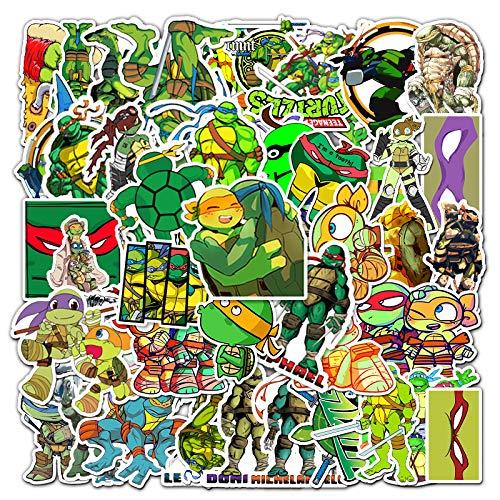 JINER Anime Teenage Mutant Ninja Turtles Laptop Mobile Phone Flat Skateboard Luggage Tide Brand Waterproof Hand Account Stickers 52 Sheets