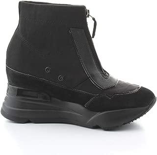 Ruco Line Luxury Fashion Womens 4132NERO Black Hi Top Sneakers   Fall Winter 19