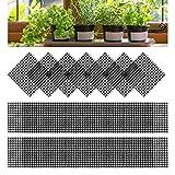 80 Piezas Rejilla Inferior de la Maceta, Jardinería Maceta Agujero Malla Almohadilla de Malla de Plástico para Maceta para Plantas de Jardín (Cuadrado)