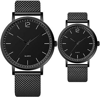ETH Blue Black Couple Men's Boy Gentleman Girl Women's Ladies Students Ultra-thin Quartz Watch Leather Strap Casual Fashio...