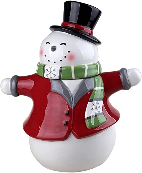 Amazon Com Comfy Hour 11 Winter Holiday Christmas Snowman Cookie Jar