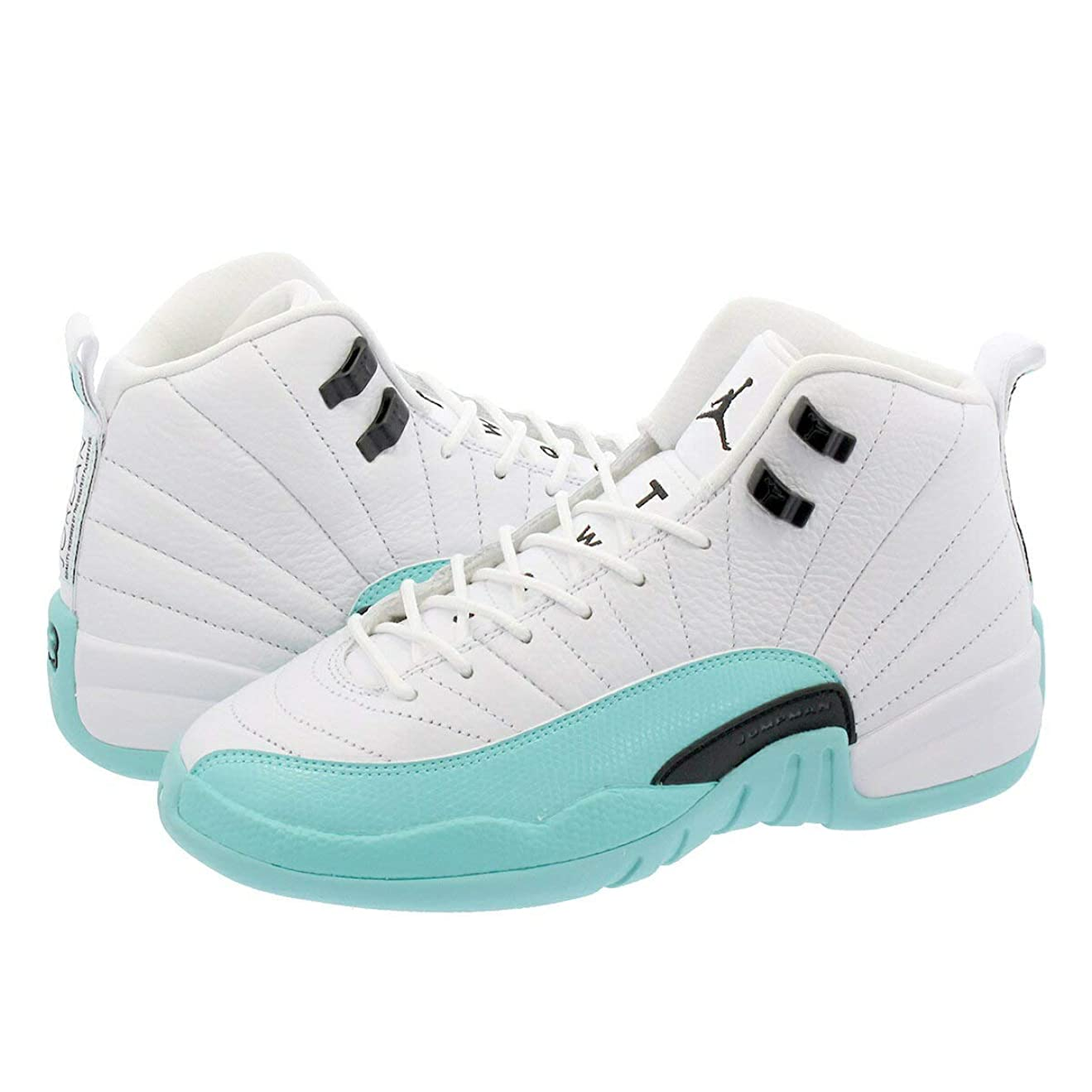 形ラブ認識[ナイキ] AIR JORDAN 12 RETRO GG WHITE/LIGHT AQUA/BLACK [並行輸入品]
