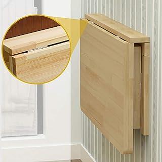 S-AIM Mesa de Hoja abatible montada en la Pared, Escritorio Plegable portátil Flotante Simple, Mesa Colgante ahorradora de Espacio para Estudio, Dormitorio, baño o balcón