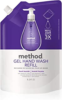 Method Gel Hand Wash Refill, French Lavender, 1L